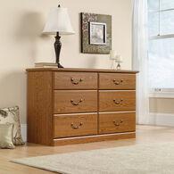 "30"" Traditional Six-Drawer Dresser in Carolina Oak"