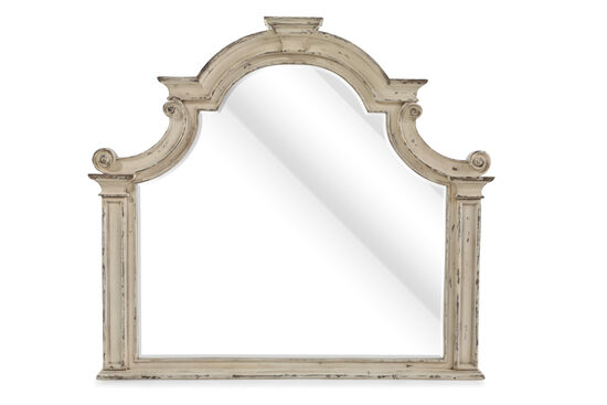 "41"" Casual Shaped Mirror in Vintage White"