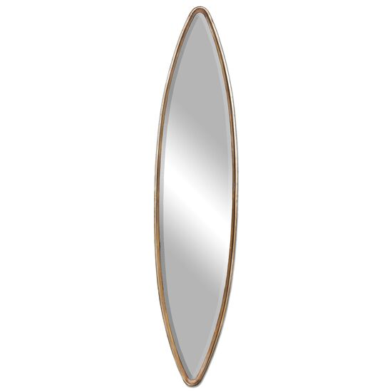 """65"""" Hammered Accent Mirror in Antiqued  Gold"""