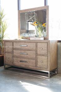 Samuel Lawrence Highland Park Brown Dresser and Mirror