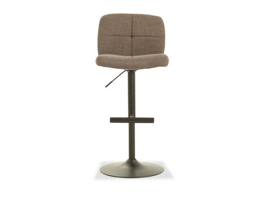 Casual Armless Bar Stool in Brown