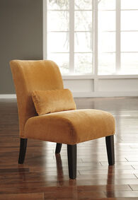 """Textured Traditional 23"""" Accent Chair in Orange"""