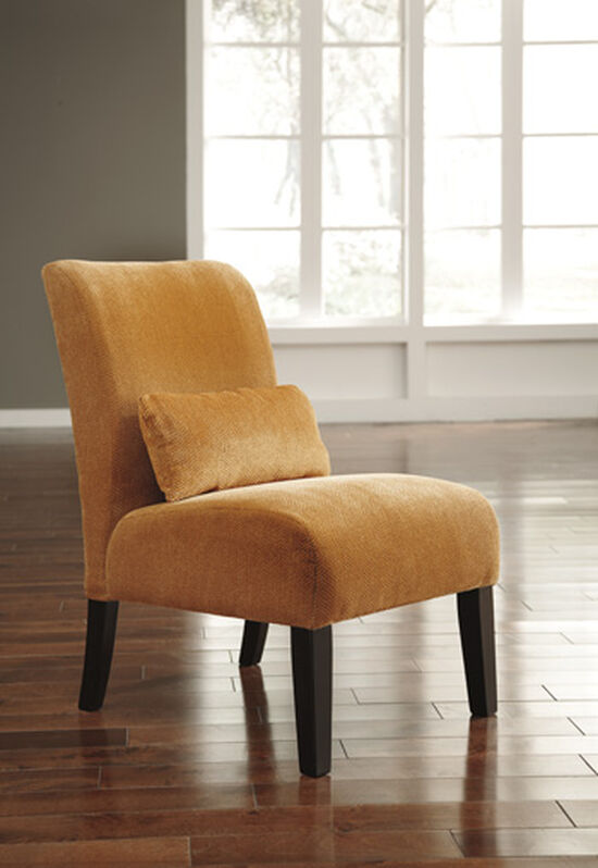 "Textured Traditional 23"" Accent Chair in Orange"