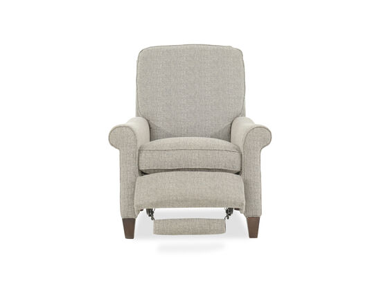 Contemporary 35 Quot Recliner In Gray Mathis Brothers Furniture