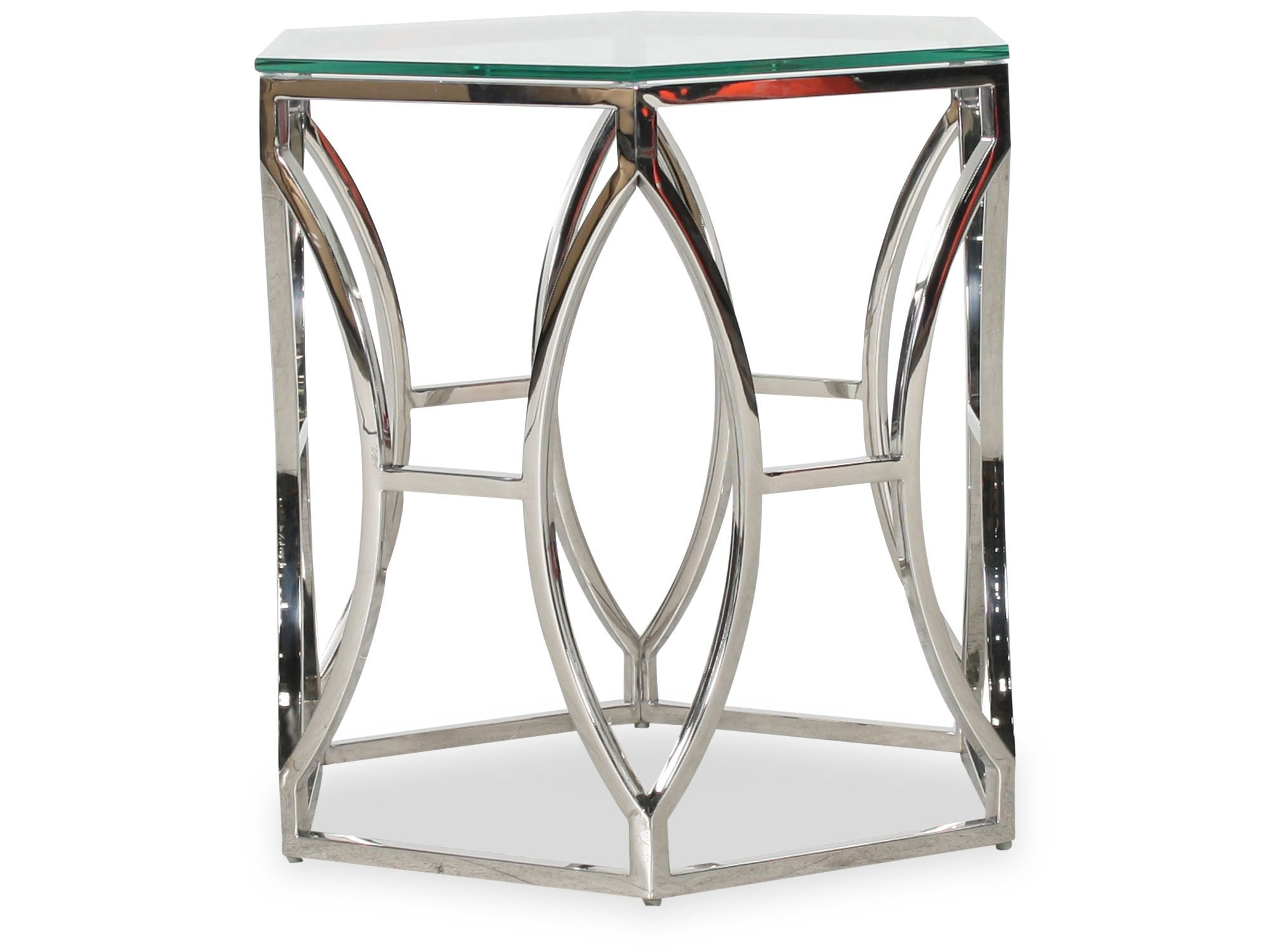 Images Hexagonal Glam Side Tableu0026nbsp;in Polished Stainless Steel Hexagonal  Glam Side Tableu0026nbsp;in Polished Stainless Steel