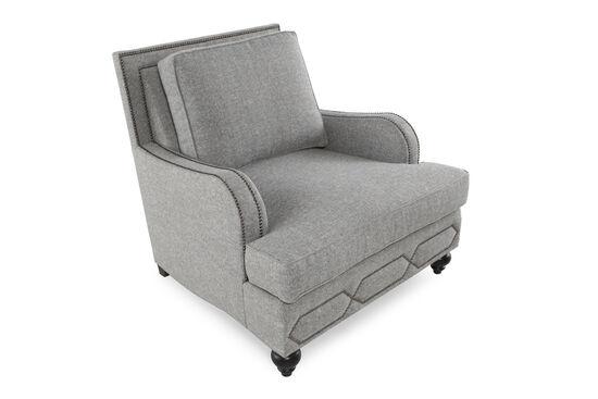 "English Arm Metropolitan 39"" Chair in Gray"