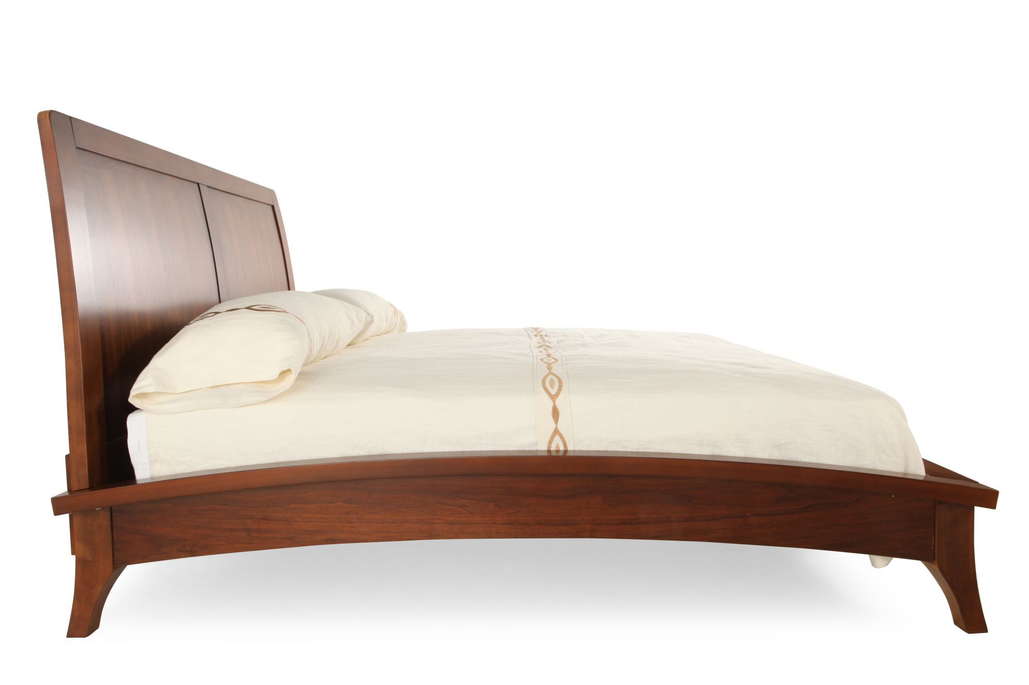 52u0026quot; Contemporary Paneled Sleigh Platform Bed ...