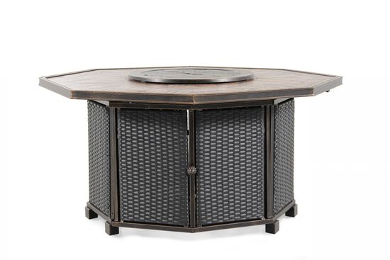 World Source Athens Gas Fire Pit Table
