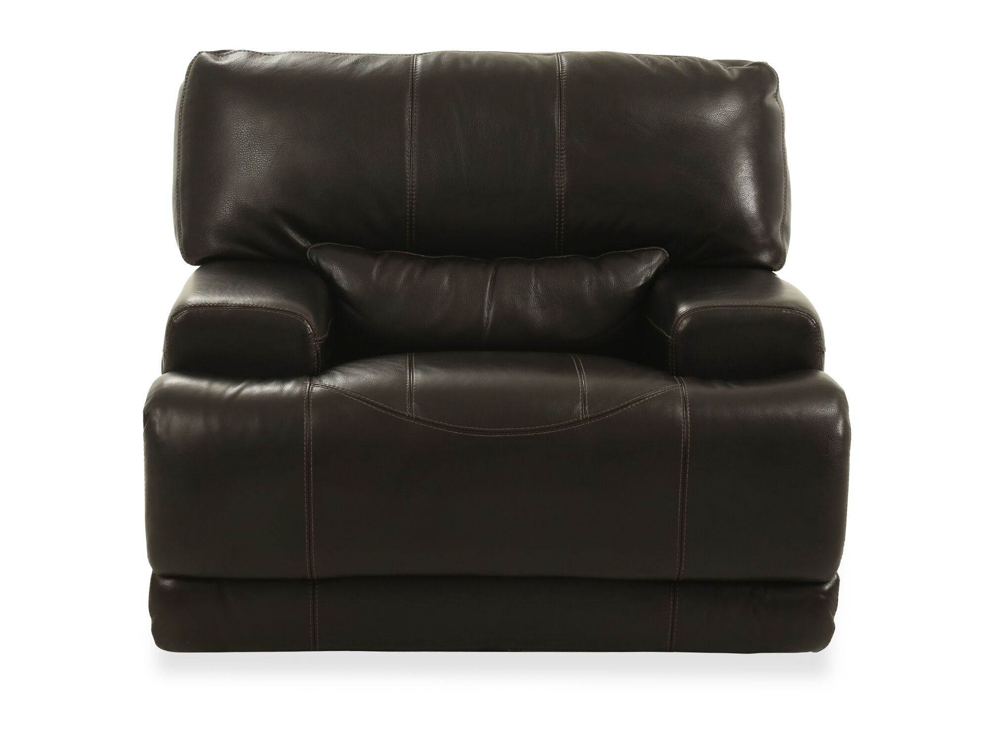 Good Traditional 39u0026quot; Leather Recliner ...