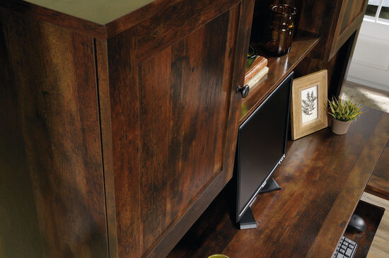 "66"" Contemporary Open-Shelf Hutch in Curado Cherry"