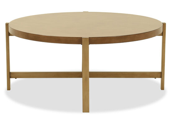 Modern Round Cocktail Table in Light Brown