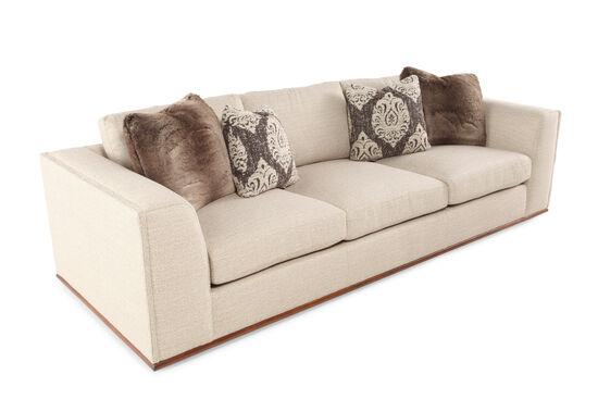 """Low-Profile 107.5"""" Sofa in Cream"""