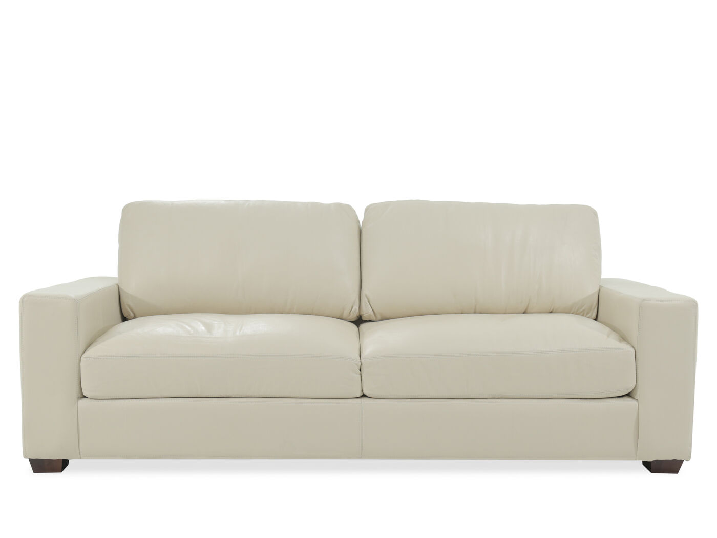 Ledersofa creme  USA Leather Creme Sofa | Mathis Brothers Furniture