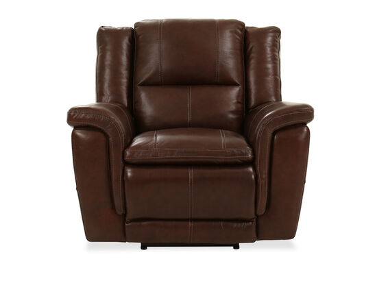Leather Power Recliner in Brown