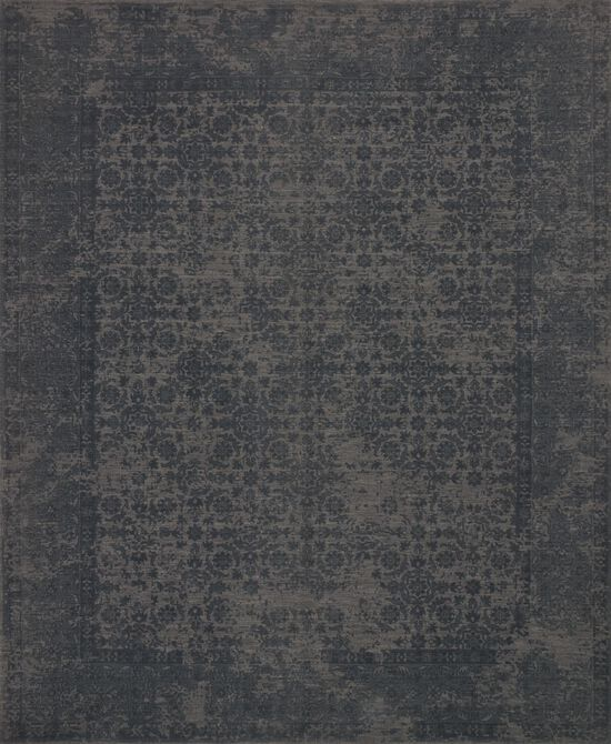 """Traditional 2'-6""""x7'-6"""" Rug in Charcoal"""