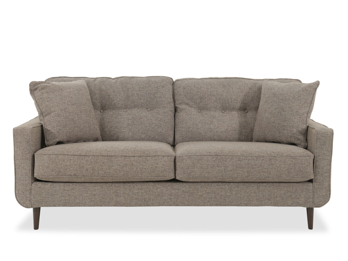 Modern Button Tufted 79 Sofa In Jute Mathis Brothers Furniture