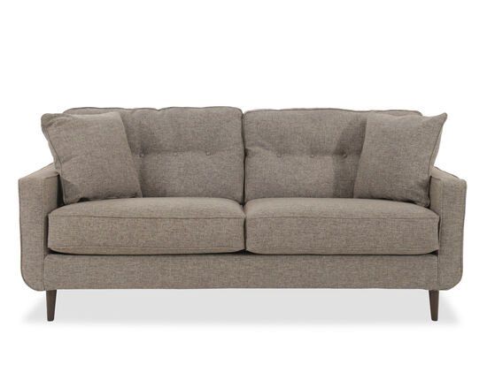 "Modern Button-Tufted 79"" Sofa in Jute"
