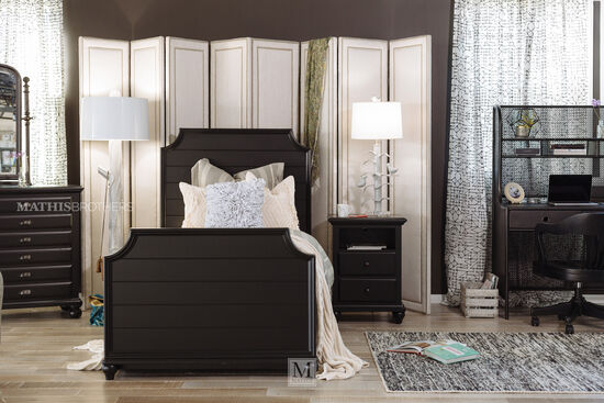 Universal Black & White Youth Full Panel Bed