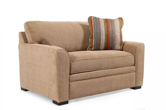"Transitional 75"" Sleeper Sofa in Coffee"