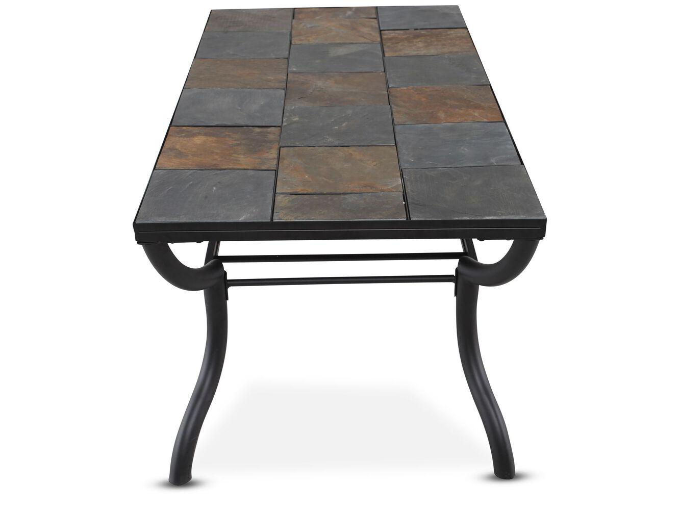Ashley slate coffee table -  Ashley Antigo Rectangle Cocktail Table