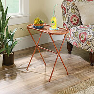 MB Home Dahlia Terracotta Accent Table