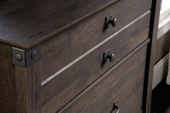 "48"" Contemporary Planked Four-Drawer Chest in Coffee Oak"