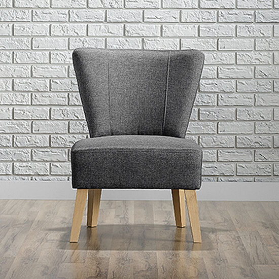 "Traditional 25"" Accent Chair in Cinder Gray"