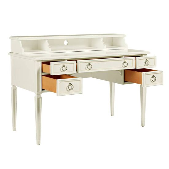 Five-Drawer Casual Desk in Frosting