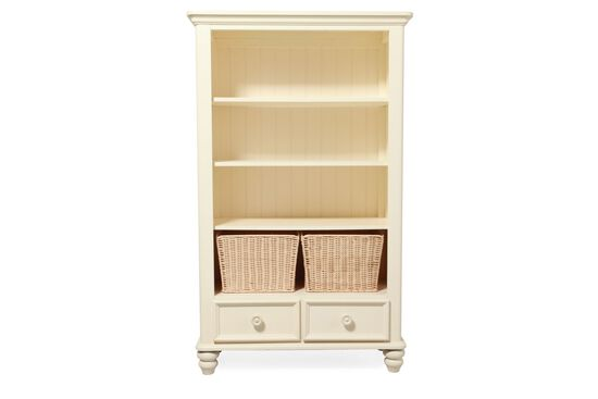 Three-Shelf Youth Bookcase in Light White