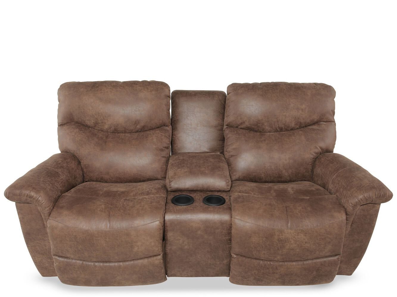 Traditional 79 Quot Double Recliner In Medium Brown Mathis