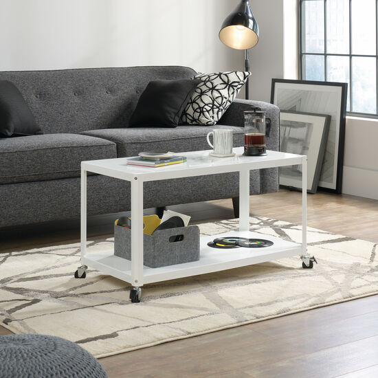 Contemporary Castered Multi Cart in White