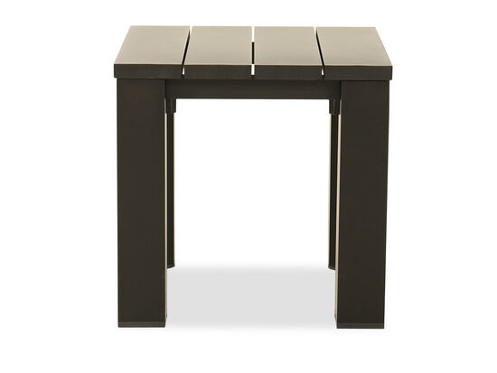 Modern Planked Aluminum Table in Black