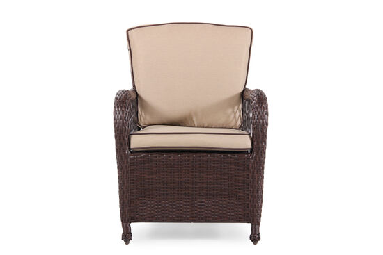 Contemporary Wicker Dining Chair in Beige