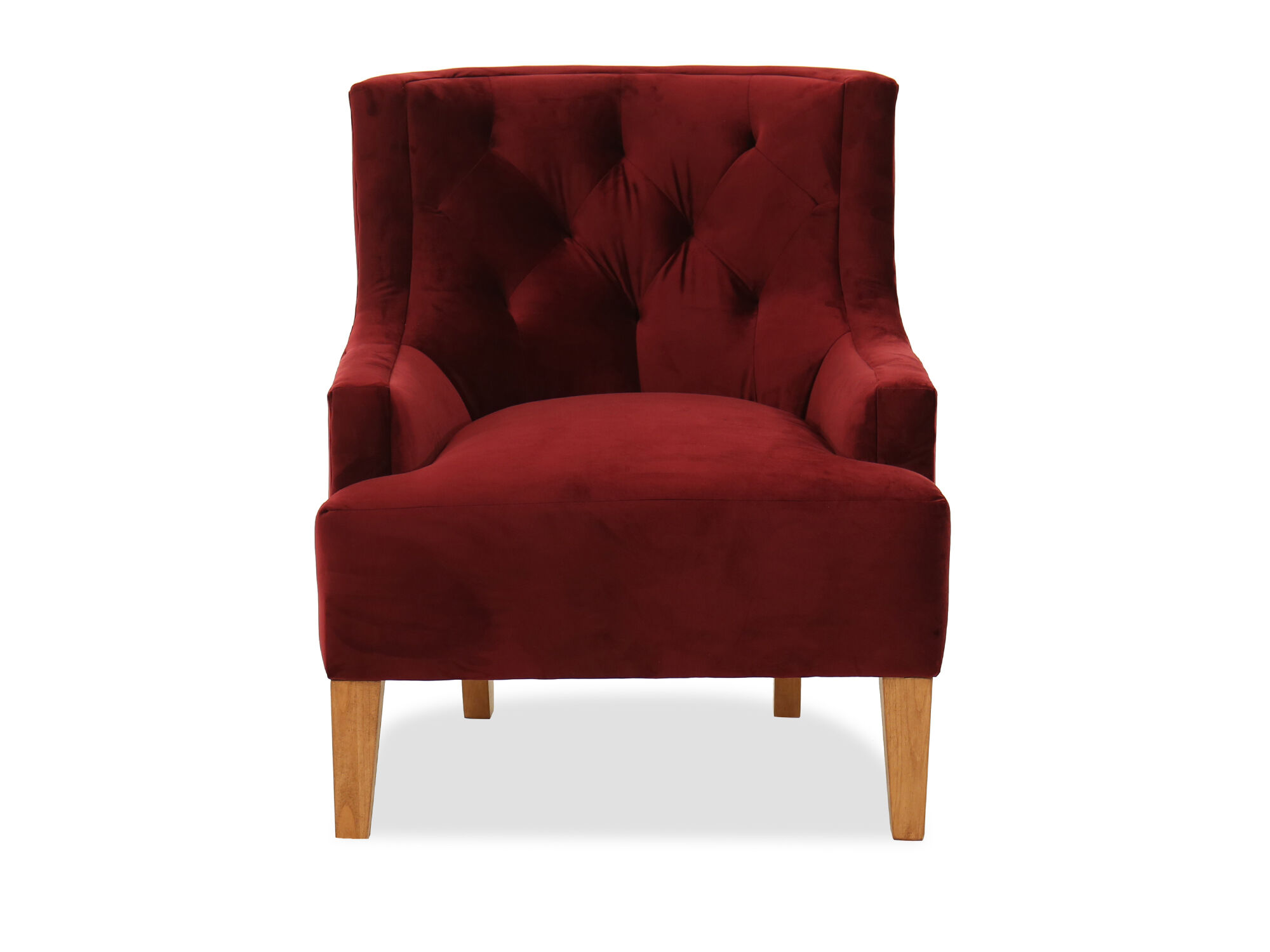 Images 30u0026quot; Tufted Transitional Accent Chair In Berry Red 30u0026quot;  Tufted Transitional Accent Chair In Berry Red