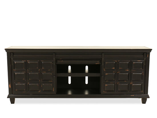 "Two-Shelf Traditional 84"" Console in Black"