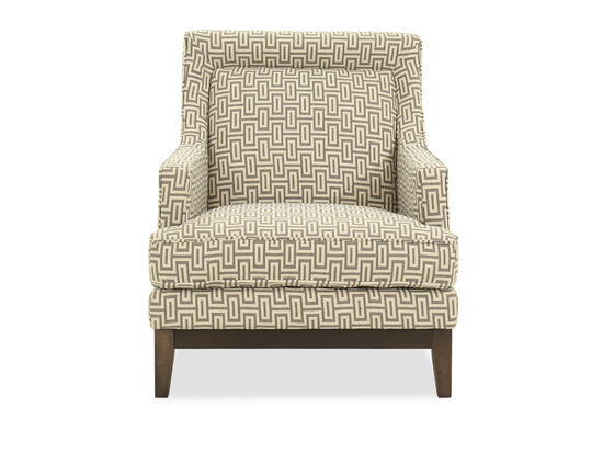 "Geometric Patterned Casual 31"" Accent Chair"