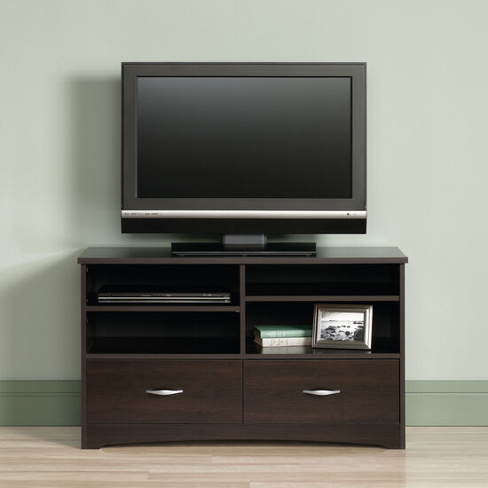 Two Drawer Casual TV Stand in Cinnamon Cherry