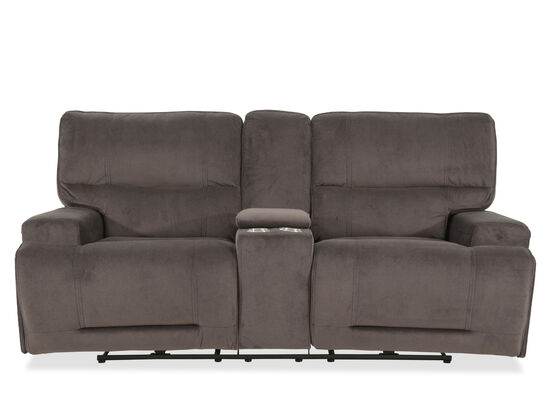 "Power Reclining Casual 84"" Loveseat in Gray"