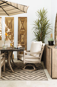 Castelle Roma Swivel Dining Chair