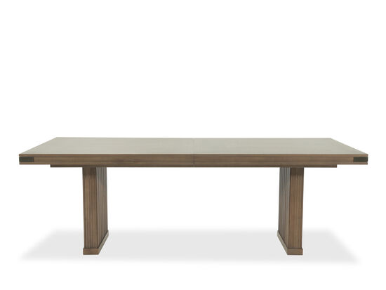"""Contemporary 40"""" to 66"""" Rectangular Dining Table in Light Brown"""