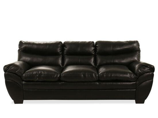 """92"""" Sofa in Black"""