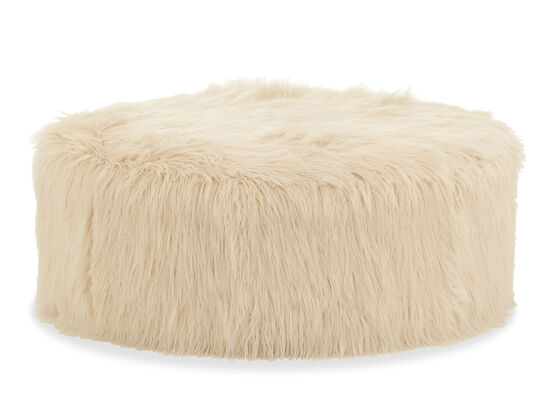 "Casual 42"" Round Cocktail Ottoman in Cream"