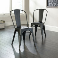 MB Home High-Street Matte Black Pair of Café Chairs
