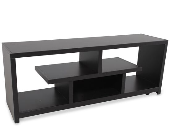Open Compartments Casual Console in Matte Black