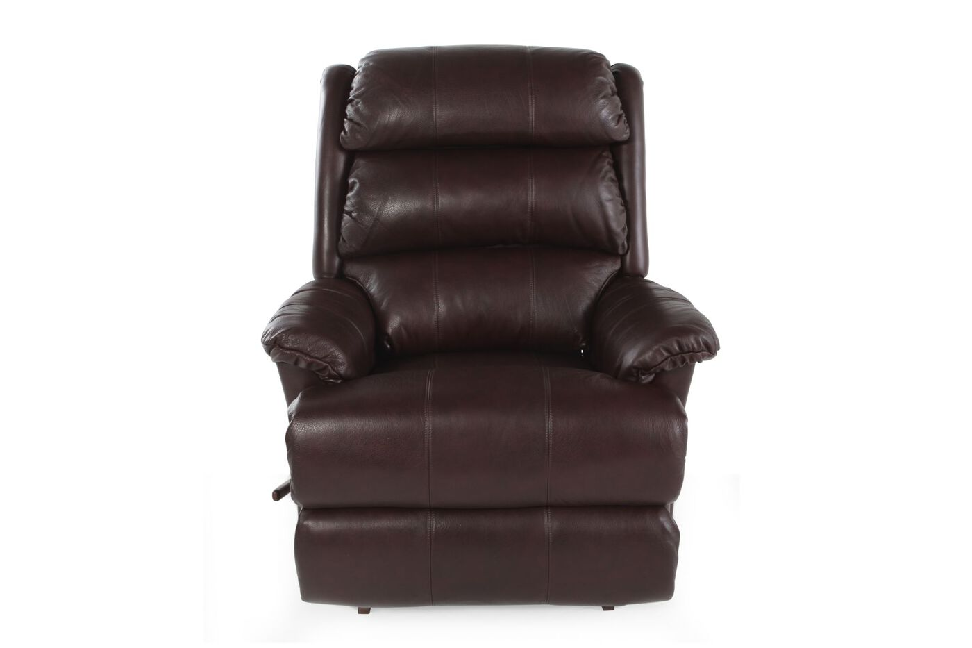 37 5 Quot Leather Rocker Recliner In Chestnut Mathis