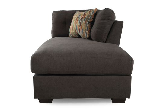 Microfiber 39 right arm facing chaise in chocolate brown for Ashley microfiber sectional with chaise
