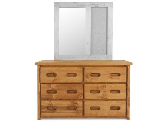 Six-Drawer Traditional Youth Dresser in Cinnamon