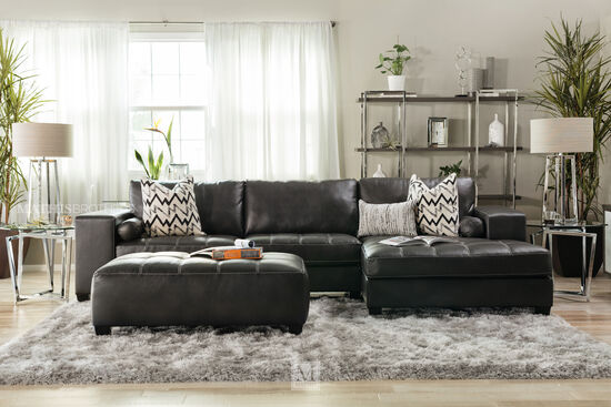 Ashley Nokomis Charcoal Ottoman
