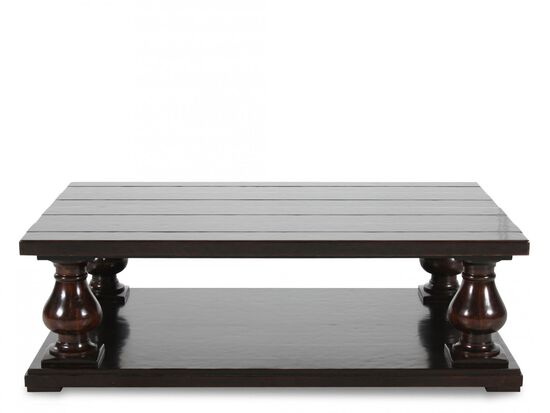 Planked Top Traditional Cocktail Tablein Mahogany