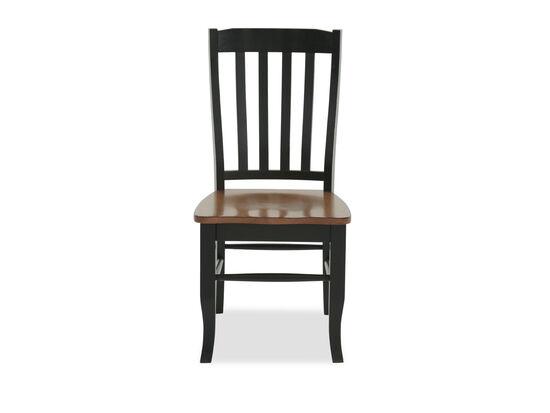 Two-Piece Rake Back Side Chair Set in Dark Ebony